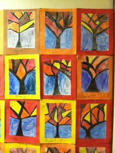 fall art projects for elementary students Halloween Art Projects, Class Art Projects, Classroom Art Projects, Art Classroom, First Grade Art, Ecole Art, Autumn Art, Preschool Art, Art Lesson Plans