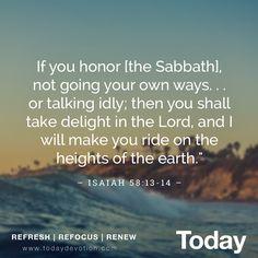 How do you keep the Sabbath?