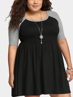 Plus Size T-Shirt Dress With Raglan Sleeves Plus Size Dresses 252d1243de00