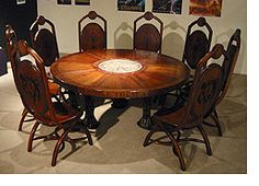 Lord of the Rings style table and chairs to sit with friends.