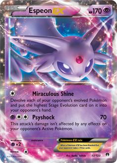 Hoping to pull this Espeon EX from my BreakPoint booster box I ordered!