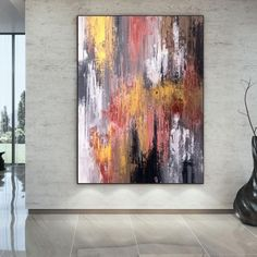 Extra Large Wall Art Palette Knife Artwork Original image 5 Large Abstract Wall Art, Large Canvas Wall Art, Extra Large Wall Art, Large Painting, Oil Painting On Canvas, Canvas Art, Colorful Artwork, Colorful Paintings, Original Paintings