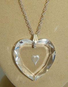 .925 Sterling Silver Genuine Swarovski Heart Pendant on 925 Sterling SilverChain in Jewellery & Watches, Handcrafted Jewellery, Necklaces & Pendants | eBay