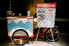 Love this unique bicycle ice cream stand! The perfect addition to a fun wedding reception. photo by Ash Imagery | junebugweddings.com