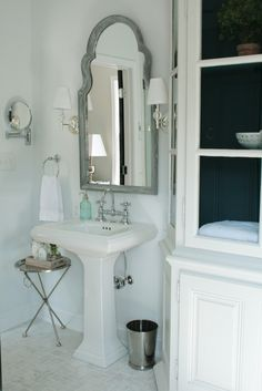 arch mirror in bathroom
