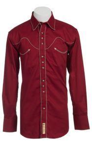 Larry Mahan® L/S Red & Khaki Retro Western Shirt LM7770402   Cavender's