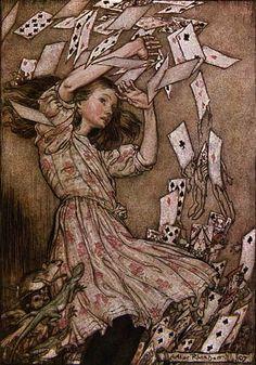 """illustration : """"Alice au pays des merveilles"""", Arthur Rackham, 1907"""