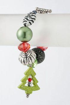 MIXED BEAD CHRISTMAS BRACELET - $9 Christmas Time, Xmas, Christmas Ornaments, Holiday Sales, Holiday Decor, Holiday Jewelry, Beaded Jewelry, Polymer Clay, Invitations