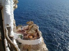 Loved this place   Cliff side bar -   Menorca – Cala`n Porter