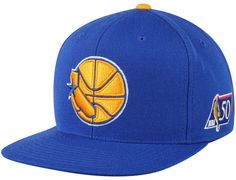 Golden State Warriors 50th Anniversary Fitted Baseball Cap by MITCHELL & NESS x NBA