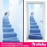 Αυτοκολλητο πορτας STAIRS TO THE BALCONY      STICKY.GR Door Stickers, Balcony, Stairs, Colours, Stuff To Buy, Home Decor, Stairway, Decoration Home, Room Decor