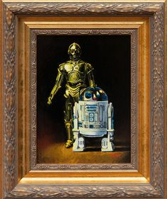 Amazing Star Wars Vintage Action Figure Paintings... Want these for my office!