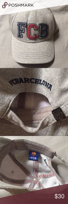 CLEARANCE FC Barcelona cap Gently worn, One Size (adjustable), 100% cotton, Unisex MUST GO, OPEN TO OFFERS!!!!! FC Barcelona Accessories Hats