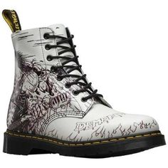 Dr. Martens Pascal 8-Eye Boot and White Demented Are Go Backhand