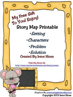 Free Story Map Printable For Primary Students - ~ Setting  ~ Characters  ~ Problem  ~ Solution