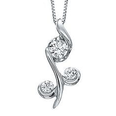 Sirena Collection Juno Lucina 1/3 CT. T.W. Diamond 14K White Gold Pendant Necklace WljzkTujYi