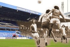 Birmingham City then and now: Old images of St Andrew's blended with images of the stadium today - Birmingham Mail Trevor Francis, Birmingham City Fc, Blend Images, Sports Gallery, Football Pictures, St Andrews, Best Cities, Historical Photos, Nostalgia