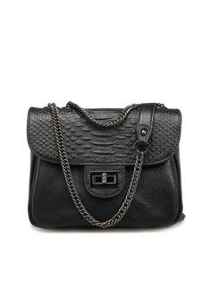 #AdoreWe #StyleWe Bags - RAFURA Casual Small Twist Lock Cowhide Leather Crossbody - AdoreWe.net
