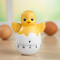 Chick in egg kitchen timer Food Tips, Food Hacks, Egg Timer, Kitchen Timers, Diy Kitchen Storage, Awesome Kitchen, Kitchen Gadgets, Cool Kitchens, Favorite Things
