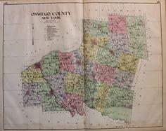 Oswego County New York - Antique Maps and Charts – Original, Vintage, Rare Historical Antique Maps, Charts, Prints, Reproductions of Maps and Charts of Antiquity