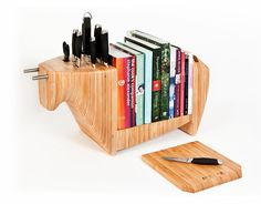 I guess this could fit with home decor for small spaces, too.  http://www.cmybacon.com/2011/08/kitchen-bull-by-toro-legno/