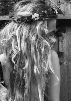Blonde, wavy hair. Beautiful.
