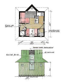 10 Idees De Plans De Cabanes Plan Cabane Plans Cabanon