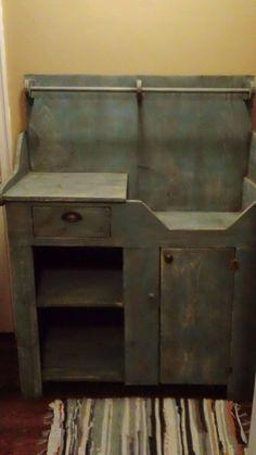 Primitive Handcrafted Dry Sink (Mason Jar Blue) | eBay
