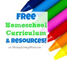 Check out this HUGE list of #FREE #homeschool curriculum & resources! So many great links & printables on this list!