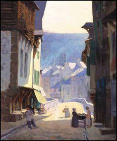 View Street scene in sunlight, Dinan by Clarence Alphonse Gagnon on artnet. Browse upcoming and past auction lots by Clarence Alphonse Gagnon. Canadian Painters, Canadian Artists, Landscape Art, Landscape Paintings, Urban Landscape, Georges Braque, Clarence Gagnon, Of Montreal, Impressionist Art