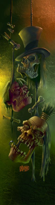 ☆ Shrunken Heads :¦: Art By Grimbro ☆