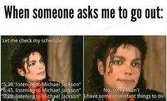 5:30-Listen to Michael Jackson 6:45-Listen to Michael Jackson 7:20-Listen to Michael Jackson, I can't cancel that again! 8:50-Listen to Michael Jackson...*looks up* Well... I'm booked! Now, beat it!