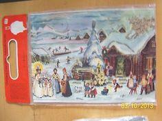 Vintage West Germany Christmas Advent Calendar RS Stuttgart Rohr