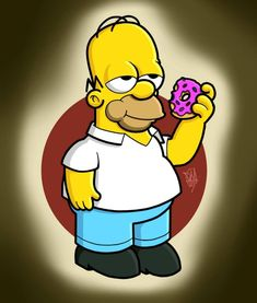 Homer, The Simpsons James L Brooks, Badass Drawings, Fanart, Cartoon Characters, Fictional Characters, Red Hood, Futurama, The Simpsons, Homer Simpson