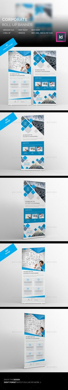Corporate Roll Up Banners Template InDesign INDD #design Download: http://graphicriver.net/item/corporate-roll-up-banners/13409816?ref=ksioks