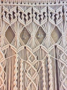 Extra Large Macrame Wall Hanging Tapestry with Free Shipping This beautiful macrame wall hanging was created to be a large statement piece or backdrop in your home. Imagine it hanging over your bed, in your front entrance, hallway, or living room. It could be used as a curtain or