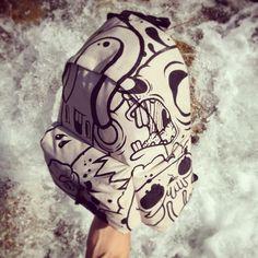By nicolafedriga. #myeastpak #diy #custom #bag