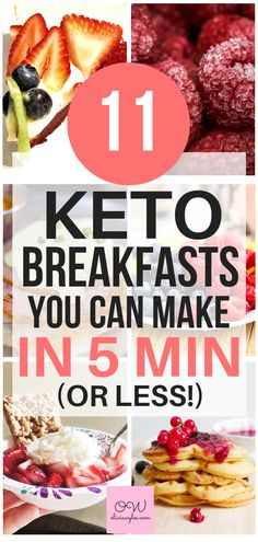 11 Amazing Quick & Easy Keto Breakfast Ideas These keto breakfasts are the best! I am so glad I found these great keto breakfasts that I can make in 5 minutes or less. Now I have some great easy keto breakfasts for my low carb diet! Keto Diet List, Starting Keto Diet, Best Keto Diet, Ketogenic Diet Meal Plan, Diet Food List, Low Carb Diet, Ketogenic Recipes, Diet Recipes, Diet Foods