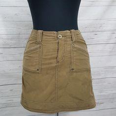 79e4f3d2949 Aventura Organic Cotton Blend Olive Green Corduroy Casual Aline Skirt SZ 4  W28  Aventura  ALine