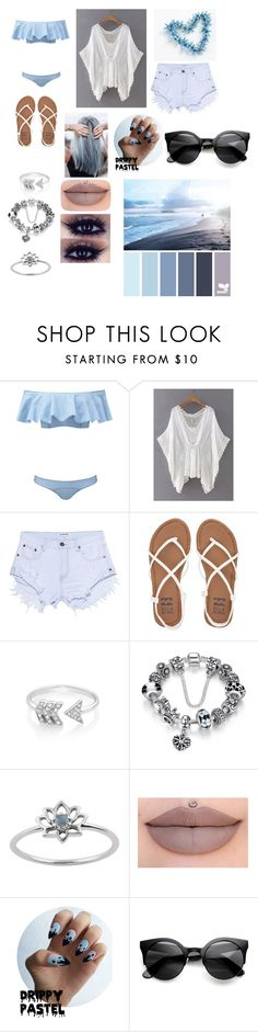 """""""Beach life"""" by trust-kashmir ❤ liked on Polyvore featuring Lisa Marie Fernandez, One Teaspoon, Billabong, EF Collection and Sephora Collection"""
