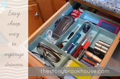 Messy Desk Dilema {DIY Drawer Organizer} - The Stonybrook House