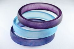 Resin Bangle Bracelets Stacking Set in Shades of by Beadevolution