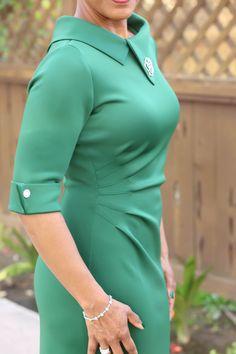 Retro-Style - Scuba Knit Dress