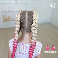 Double braids are the best! especially with pink ends boxerbraids braids dutch twotwo dutch braids boxer braids step by step double braids boxer double braids with extensions Undercut Hairstyles Women, Box Braids Hairstyles, Easy Hairstyle, Style Hairstyle, Hairstyles 2018, Protective Hairstyles, Wedding Hairstyles, Female Hairstyles, Medium Hairstyles