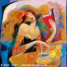 """Poetry Reading"" © Irene SHERI (Artist, Ukraine)  via Pierside Art Gallery, California."
