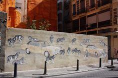 Ruta street art Valencia. CaminArt. Arte urbano. Escif y Hyuro