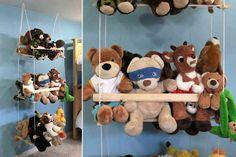 Build this DIY stuffed animal swing.