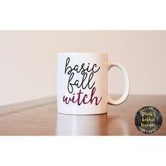 Basic Fall Witch Mug Halloween Mug Basic White Girl Mug Basic Mug Fall... (16 CAD) ❤ liked on Polyvore featuring home, kitchen & dining, drinkware, drink & barware, gold, home & living, mugs, quote mugs, quote coffee mugs and white mug
