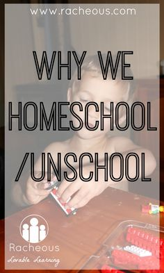 Why We Homeschool - Racheous - Lovable Learning  Check out www.NYHomeschool.com as well.