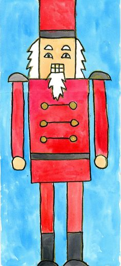 Nutcracker: Watercolor Painting | Art Projects for Kids